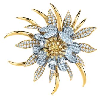 Cerius Diamond Flower Brooch
