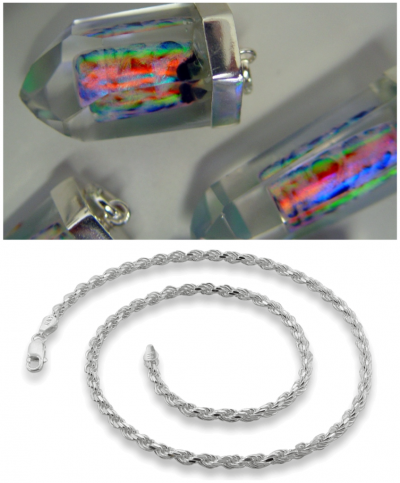 Liquid Crystal (LC) Rainbow Pendant